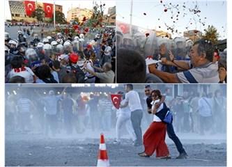 Polis ellerinde Karanfil bulunan çapulcuları(!)dağıttı!