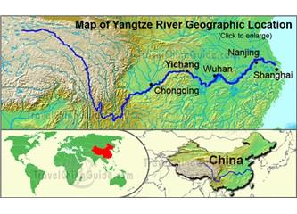 Çin de bir nehir ve etrafında 500 milyon insan