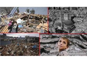 Deprem Bir gece önce eviniz var, eşyalarınız var, hatta yakınlarınız var. Ya bir gün sonra!
