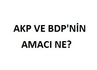AKP ve BDP'nin amacı ne?