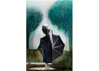 Sızlayan yürekler şemsiyeye rağmen ıslanıyor