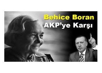 Behice Boran AKP'ye karşı
