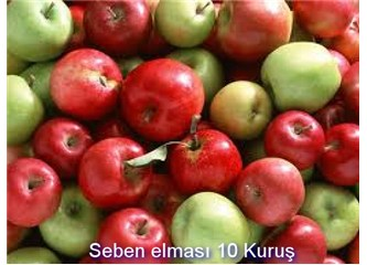 Elma 10 kuruş