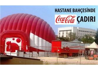 Hastane Bahçesinde Coca Cola çadırı