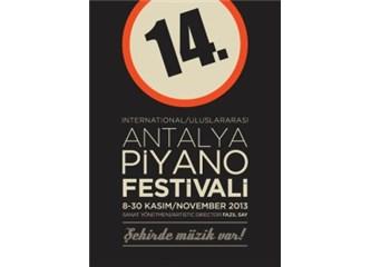 14. Uluslararası Antalya Piyano Festivali 8 Kasım'da başlıyor