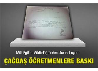 Milli Eğitim Müdürlüğünün Öğretmenlere imzalattığı belge işte budur