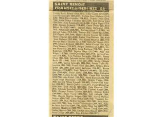 Saint Benoit Lisesi sınav sonuçları; Temmuz 1983