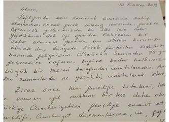 Ölümünün 75. yılında Atatürk'e mektup yazdım.