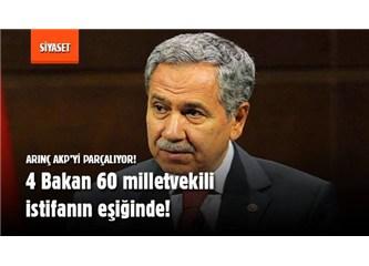 Beklenen oluyor, Arınç AKP'yi parçalamanın eşiğine getirdi