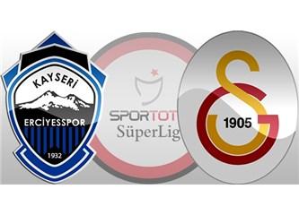 Kayseri Erciyesspor: 1- Galatasaray: 3. Galatasaray Fenerbahçe'nin ensesinde..