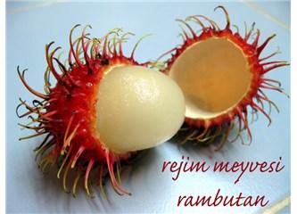 Egzotik rejim meyvesi; rambutan