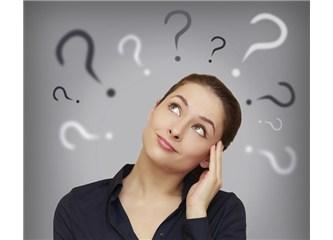 Birkaç soru, birkaç çözüm (1)