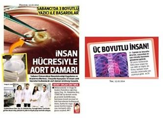 Sabancı Üniversitesi, 3 boyutlu yazıcı ile insan hücreleri kullanılarak aort damarı üretmiş...