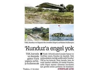 Türk mühendislerin ürettiği amfibi zırhlı : 'Kunduz'