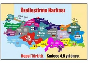 Türkiye'nin içler acısı özelleştirme haritası!
