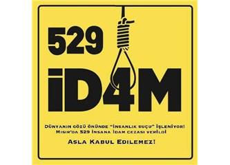 Eylemlerde hayatını kaybedenler için yeri göğü birbirine katanlar, 529 idama karşı neden sus pus?
