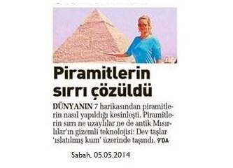 Piramitlerin sırrı çözülmüş...