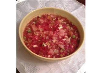 Meksika Gazpaço (Gaspatcho)Çorbası