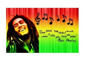 Reggae müziğinin ikonu Bob Marley'e saygı....