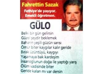 Fethiyeli Öğretmen Fahrettin Sazak ve şiirleri