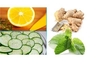 """Salatalığın (Hıyar) faydaları ve göbek eriten """"salatalık çayı"""" tarifi."""