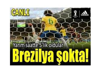 """Almanya'ya 7-1 yenilen Brezilya, yenilginin suçunu """"paralel""""cilere attı.."""