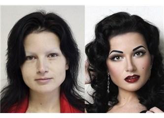 Kadınların engel tanımaz alışkanlığı; makyaj