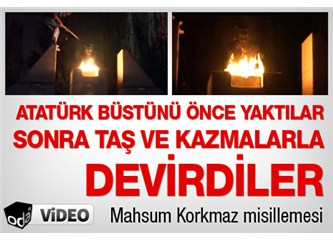 Atatürk'ün büstünü!!!