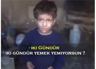Suriye'de açlıktan çim yiyen çocuk sende nasıl bir his uyandırıyor?