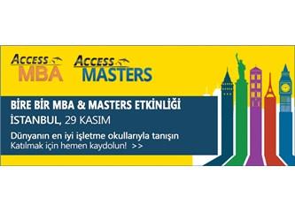 Hatırlatma: 29 Kasım 2014 Access MBA / Masters Fuarı