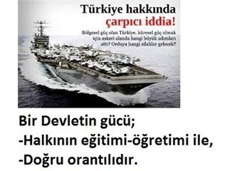 """Türkiye, Ortak Akıl'la, Orta Gelir'den Üst Gelir grubuna yükselerek """"Büyük Devlet"""" Olacaktır.(3)"""