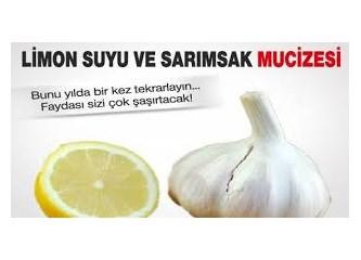 Limon suyu ve Sarımsak mucizesi yapılışı, kullanım şekli ve faydaları...