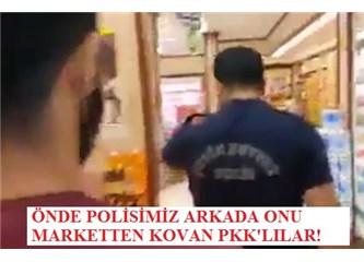 Tayyip Erdoğan ve Davutoğlu gördünüz mü? PKK polisimizi marketten nasıl kovuyor!