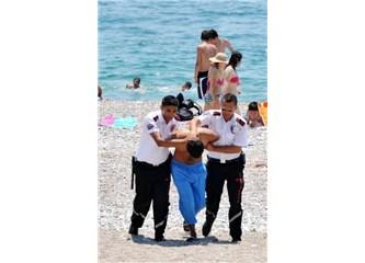 Plajda ilginç olaylar