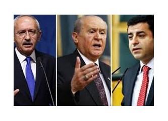 Kılıçdaroğlu, Devlet Bahçeli ve Demirtaş partilerinden istifa etmelidirler...