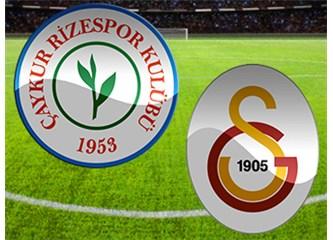 H.Karaman Hamzaoğlu'nu yendi: Ç.Rizespor:4 , Galatasaray : 3
