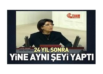 Kürt Milletvekili Leyla Zana-Rum Milletvekili Kozmidi Efendi...