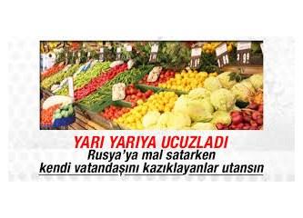 Rusların geri çevirdiği sebze ve meyveler Rusların mağdur ettiği milletlere hibe edilsin...