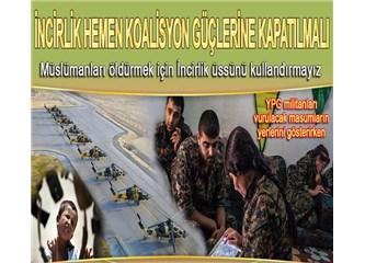 YPG militanları Amerikan askerlerine masum halkın koordinatlarını gösteriyor!