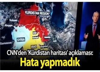 CNN Türkiye'nin Güneydoğu'sunu Kürdistan olarak gösteriyor!