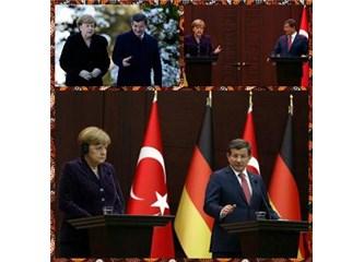 Davutoğlu ve Merkel'den ortak basın toplantısı