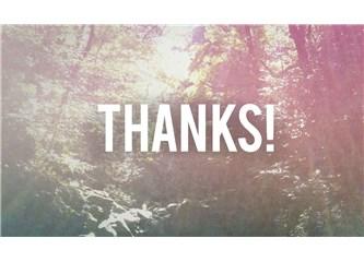 Teşekkürler bazı şeyler!