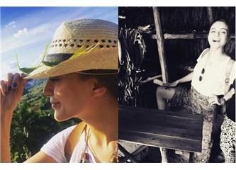 Güzel oyuncu Damla Sönmez Küba'da!