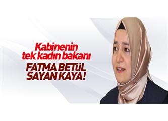 İşte AKP'nin kadına verdiği değer: 12 milyon kadının oyunu aldı, sadece bir tek kadına görev verdi