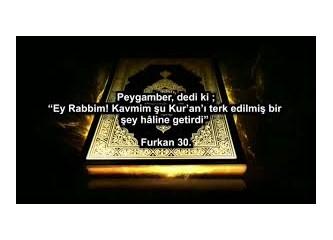 Hz. Muhammedi' in (as) Ümmetini şikayet edeceği tek konu