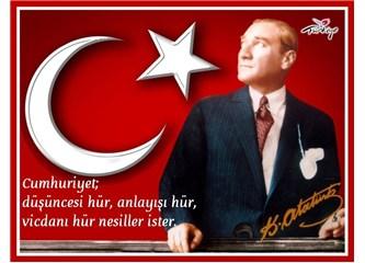 29 Ekim 1923'te, Osmanlı Devletinin küllerinden Türkiye Cumhuriyeti doğdu.