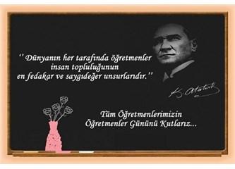24. Kasım : Bırakın öğretmenler ağlasın..