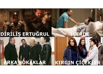 Geçen Haftanın (09 - 15 Ocak 2017) en çok izlenen dizileri!
