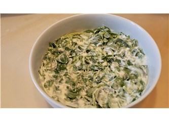 Yoğurtlu, sarımsaklı semizotu salatası