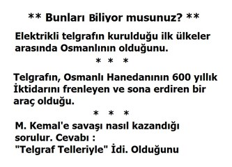 """Osmanlıda Reform: M. Kemal'e Savaşı Nasıl Kazandığı Sorulur. Cevap: """"Telgraf Telleriyle"""" (10)"""